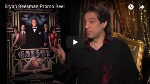 pic of Bryan Reesman at The Great Gatsby press junket