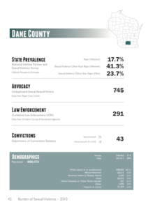 Burden Report - Dane County stats